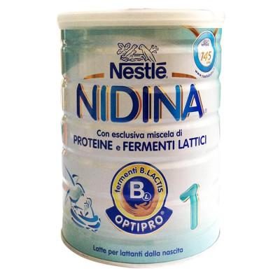NIDINA 1 OPTIPRO 800G latte in polvere per lattanti, per l'alimentazione sin dalla nascita