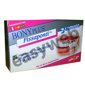 bonyplus fissaponti cemento dentale utile per fissare ponti dentali, corone o ponti provvisori cos~