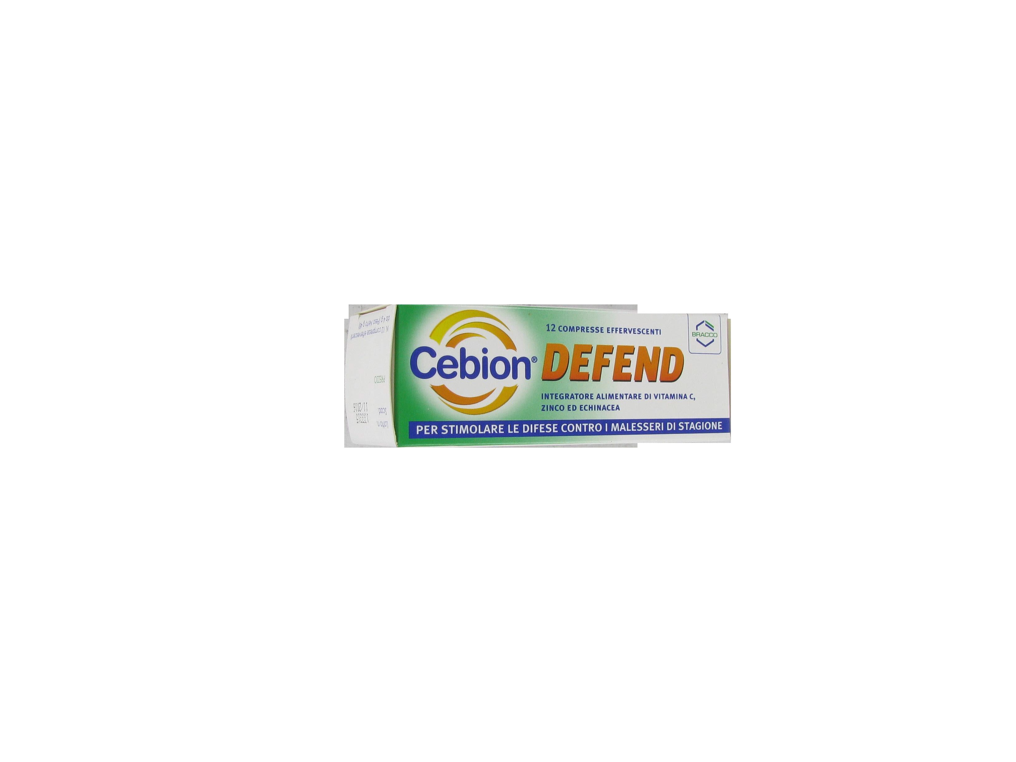 cebion defend integratore alimentare a base di vitamina c, zinco ed echinacea, fornisce