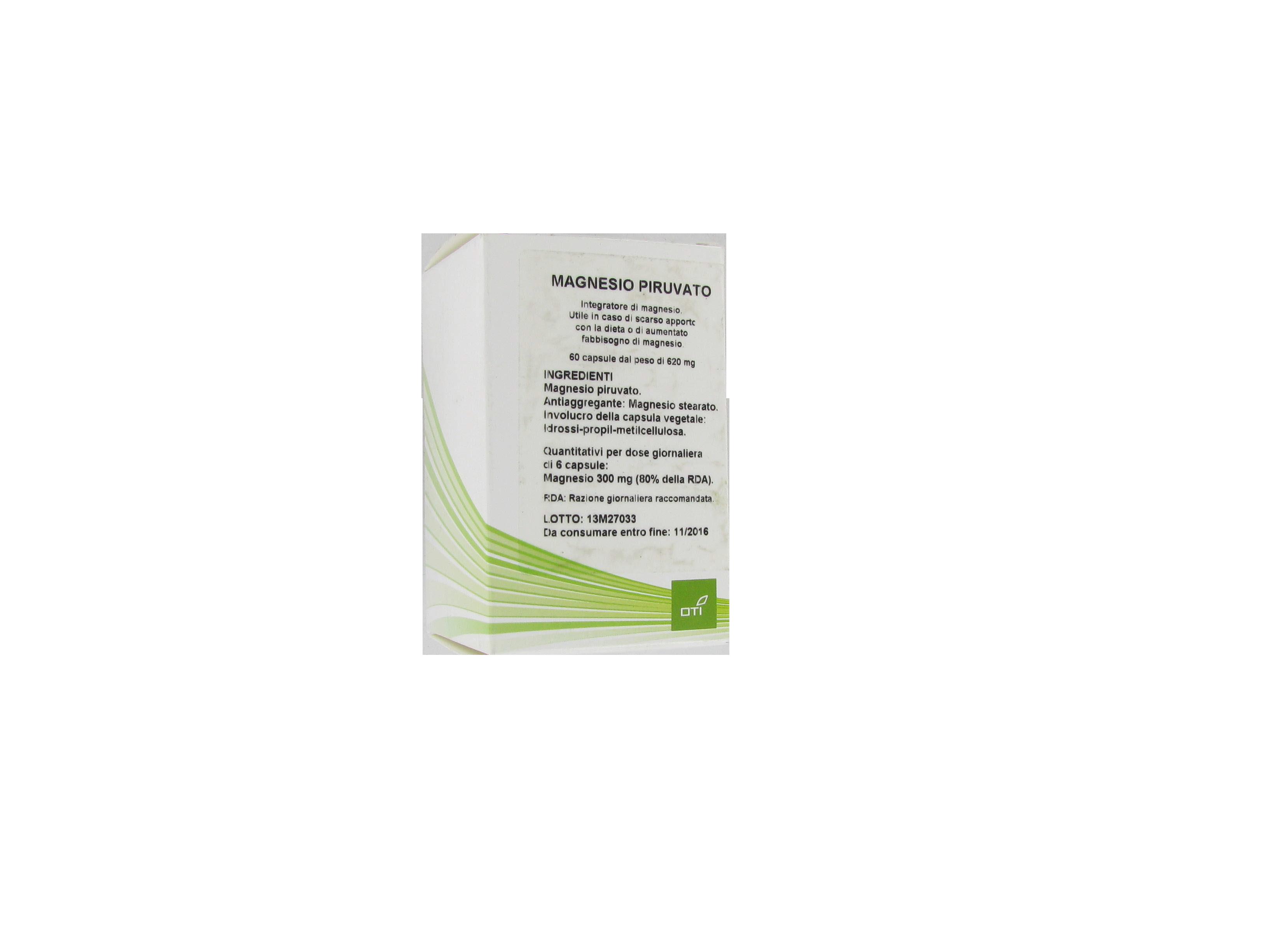 magnesio piruvato integratore di magnesio. utile in caso di scarso apporto con la dieta o di aumentato