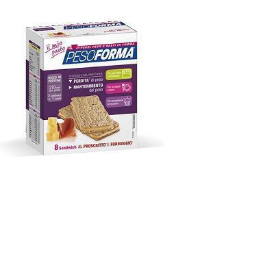 peso forma sandwich al prosciutto e formaggio